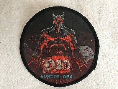 Vintage Heavy Metal DIO Jacket Patch Europe 1984 Sew On Woven Patch