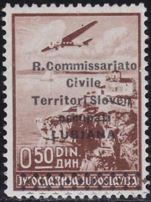 ITALIAN OCCUPATION LJUBLJANA 1941 Airmail 50p MNH Signed B14448