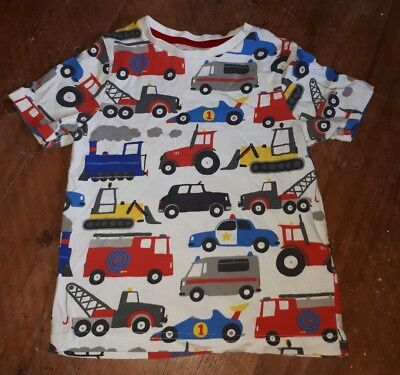 2-3 years transport vehicles tractor train police fire digger t-shirt top
