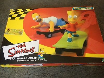 The Simpsons Skateboard Chase Scalextric Micro set complete with instructions