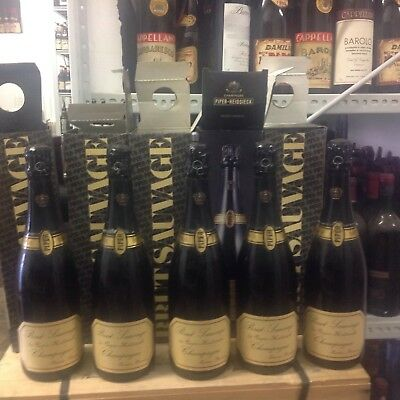 Champagne piper brut sauvage lot 5 bottles