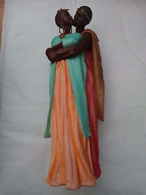 Maasai Soul Journeys - Shika 'loving Embrace' Stacy Bayne 2006 Figurine