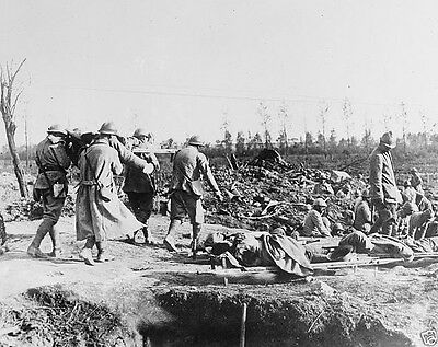 New 8x10 Photo- French Red Cross in action at the Battle of the Somme 1916