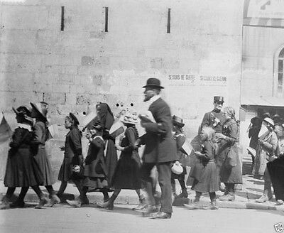 Belgian orphans leave Paris for country homes 1914 World War I 8x10 Photo