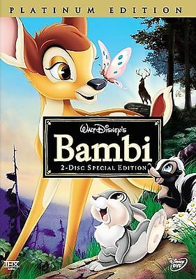 Bambi (DVD, 2005, 2-Disc Set, Special Edition/Platinum Edition) WITH SLIPCOVER
