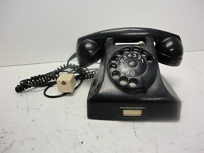 Vintage Pit Brand Black Rotary Phone - Made in Holland
