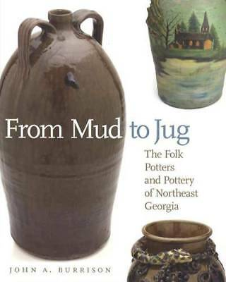 Georgia Primitive Stoneware Guide Folk Pottery Face Jug