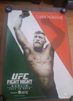 New Ufc Hologram Conor Mcgregor Limited Edition Ireland Irish Flag Signed Poster