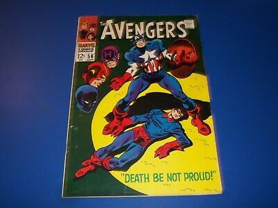 Avengers #56 Silver Age 1st Bucky Wow Captain America