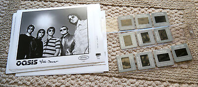 OASIS Noel & Liam Gallagher promo lot of 11 photos & 12 slides 35mm