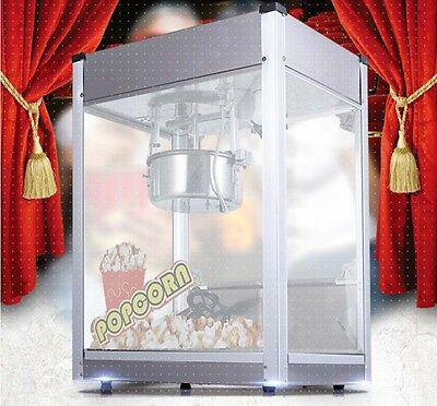 Commercial 1300W Popcorn Non Stick Pan Automatic Flat Topped Popcorn Machine *