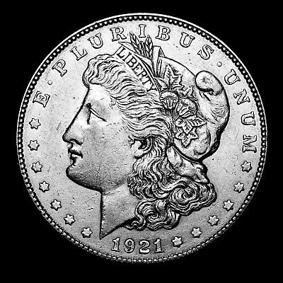 1921 S ~**ABOUT UNCIRCULATED AU**~ Silver Morgan Dollar Rare US Old Coin! #750