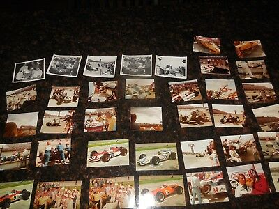Circa 1960's INDY 500 ORIGINAL POST CARDS & PICTURES! GROUP OF 38 ITEMS ONE BID!