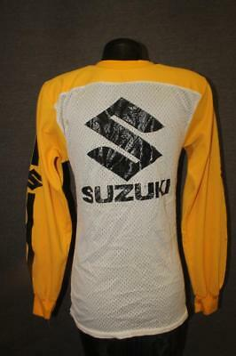 vintage SUZUKI racing motorcycle jersey motocross Mens Medium ROCKY sunnyvale