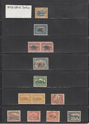 Guatemala 1912-1926 A mint and used Official Perfin collection.