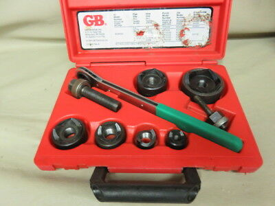 GB Gardner Bender kow-520 conduit knockout punch driver set used