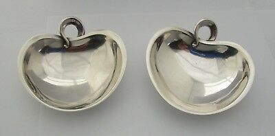 Pair (2) Just Andersen Sterling Silver Footed Candy dishes Circa 1920's