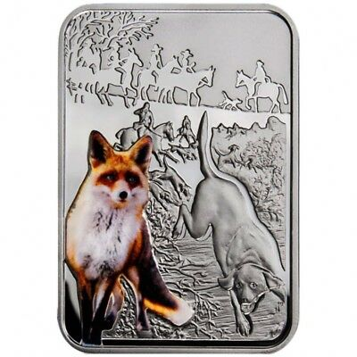 Niue Islands - 2011 - 1$ - Art of Hunting - FOX HUNT - 28,8g - silver coin