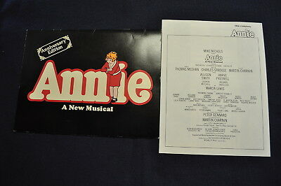 Vintage 1982 Annie A New Musical Original Broadway Musical Program