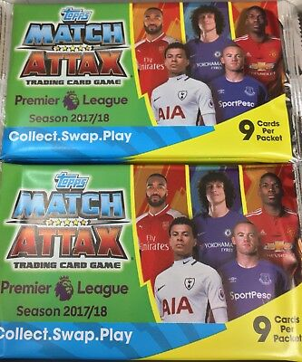 Match Attax - Premier League 2017/18 - Topps (10 sealed retail packs of 9 cards)