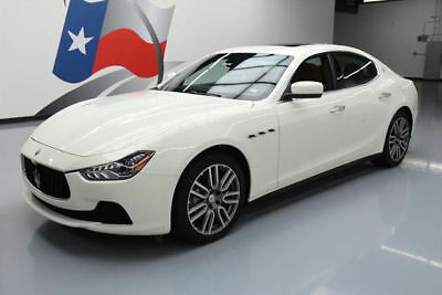 2016 Maserati Ghibli Base Sedan 4-Door 2016 MASERATI GHIBLI LEATHER SUNROOF NAV REAR CAM 9K MI #179453 Texas Direct