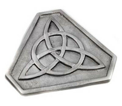LARGE METAL TRIQUETRA ALTAR TILE 130 mm Wicca Pagan Witch Goth