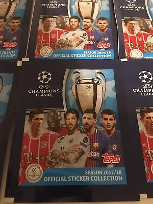 Official Uefa Champions League 2017/18 Sticker Collection 10 x Sealed Packs