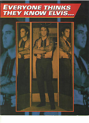 Elvis Presley All The King's Men Memphis Mafia Vhs Promotional Booklet Candid