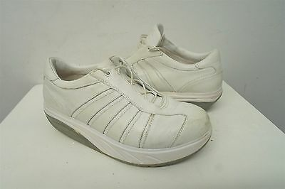 23d91040aba7 MBT ICE ANTI-SHOE WHITE LEATHER FITNESS LACED WALKING CASUAL SHOES 8.5 women  240