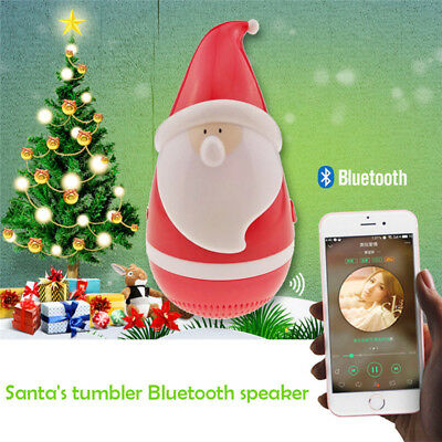Best Christmas Gift Wireless Bluetooth Touch Speakers Roly-poly Christmas Claus