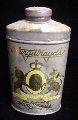 Antique Murgittroyd's Drug Store Drugstore Talcum Powder Tin Can Spokane Wa. Old