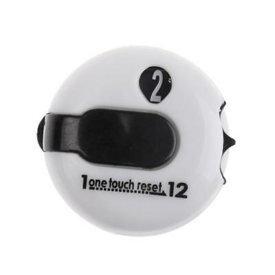 Golf One Reset Counter Clip On Golf Stroke Score Counter Pocket Size White