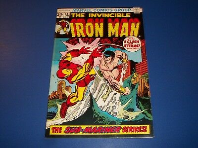 Iron Man #54 Bronze age Sub-Mariner 1st Moondragon Key Issue Wow VF- Beauty
