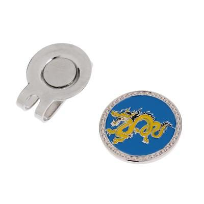 Zodiac Dragon Alloy Magnetic Hat Clip with Golf Ball Marker for Golf Cap