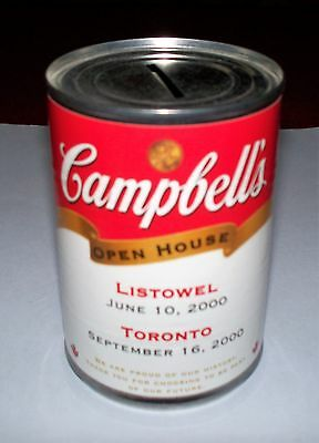 Vintage Campbells Soup Can Bank Advertising Open House Anniversary Toronto