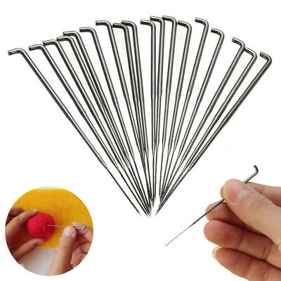 18pcs 78mm Stainless Steel Needle Felting Kits Handle Holder Sewing Craft Tool