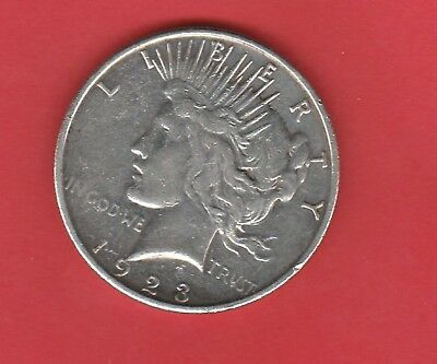 1923 S $1 One Dollar Us Peace Dollar Silver 0.9000 Circulated