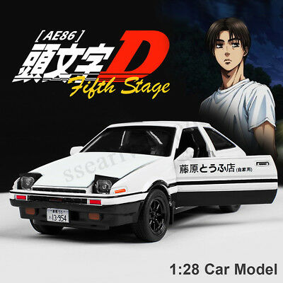 Initial D Metal For Toyota AE86 1:28 Car Model Toy With Sound & Light Kids Gifts