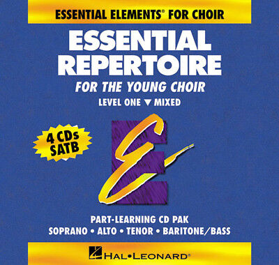 Essential Repertoire for Young Choir Level 1 Mixed Part-Learning 4 CD Set NEW