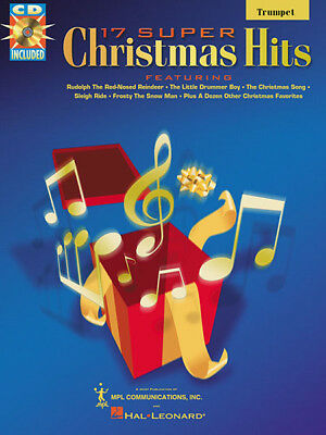 17 Super Christmas Hits for Trumpet Solo Sheet Music Play-Along Book CD Pack NEW