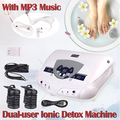 Dual Chi Ionic Ion Detox Machine Foot Bath Cell Aqua Spa Cleanse Music Mp3