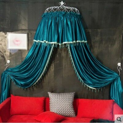 Double Size Green Ceiling Mosquito Net Bedding Bed Curtain Netting Canopy