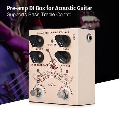 Caline Pre-amp DI Box for Acoustic Guitar Supports Bass Treble Control Y0Q5