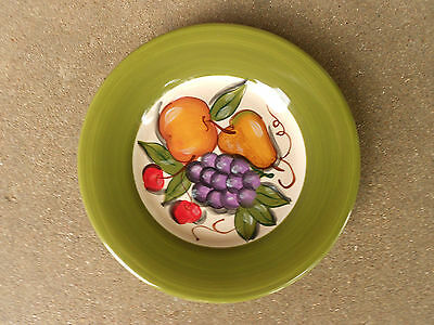 "Tabletops Gallery GRAPPA 8.5"" Salad Plate  Tuscan  Fruit"