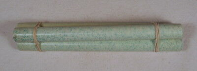 Beautiful rare lot of lucite green marbled 3 rods 190grams