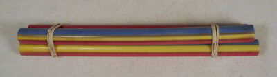 Beautiful rare lot of lucite multicolor marbled 3 rods 160grams