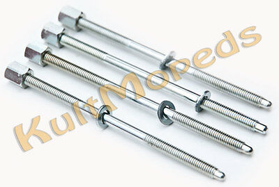 4 Stud Bolts Tie Rod Cylinder Pas for SIMSON S50 KR51 S53 Schwalbe