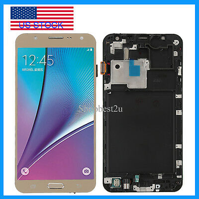 Gold For Samsung Galaxy J7 J700M J700F LCD Touch Screen Digitizer Replace +Frame