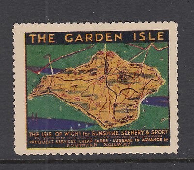 Isle Of Wight - Southern Railway -  Advertising Poster Stamp - Cinderella