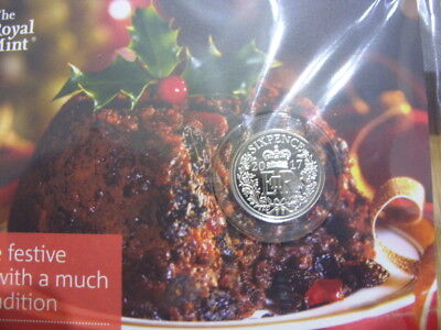 Royal Mint-Christmas Silver Sixpence-2017-.925 Silver-Brilliant Unc.MINT Pack